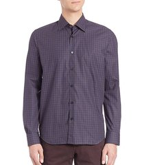 collection regular fit plaid shirt