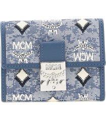 mcm mini trifold wallet