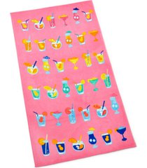 martha stewart collection cocktail beach towel, created for macy's bedding
