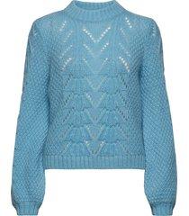 tali knit o-neck gebreide trui blauw second female