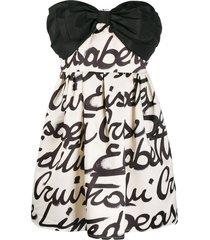 elisabetta franchi strapless bow mini dress - black