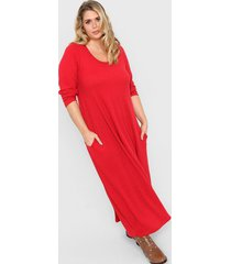 vestido rojo minari lanilla morley