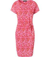 bloemen strik jurk fuchsia
