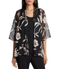 tahari asl floral jacket & camisole