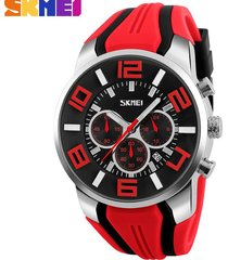 reloj de cuarzo impermeable deportivo al aire libre-rojo