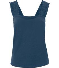 top in jersey con lavorazione smock (blu) - bpc bonprix collection