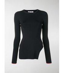 victoria beckham side cut out sweater