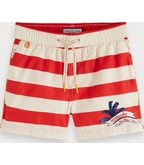 scotch & soda striped swim shorts keoni