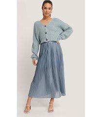 trendyol veckad kjol - blue