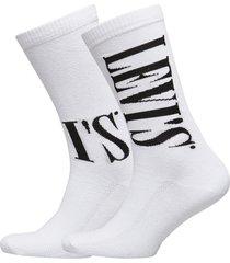 levis regular cut tall logo 2p underwear socks regular socks vit levi´s