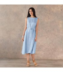 cp shades inc women's madalena linen dress by sundance in redwood large