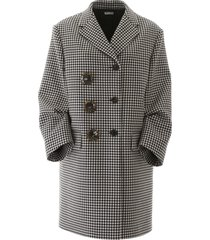 miu miu gingham checks midi coat