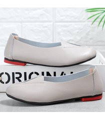 splicing pure color slip on casual flat lazy loafers