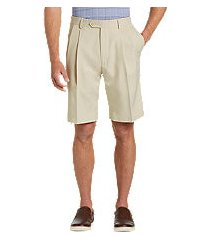 traveler collection performance pleat front traditional fit comfort waist shorts - big & tall by jos. a. bank