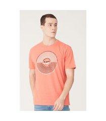 camiseta hd estampada laranja mescla