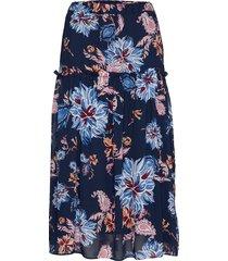 d1. marine paisley chiffon skirt knälång kjol blå gant