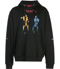 mostly heard rarely seen 8-bit fight! pixelated hoodie - black