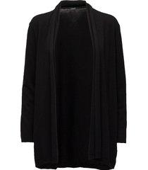 ladies knit cardigan, villis gebreide trui cardigan zwart nanso