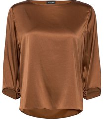 3176 - nova blouse lange mouwen bruin sand