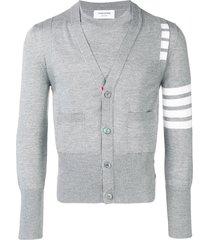 thom browne 4-bar 2-in-1 merino pullover vest - grey