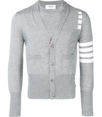 thom browne 4-bar 2-in-1 merino pullover vest - grey