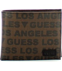 guess mens brown wallet