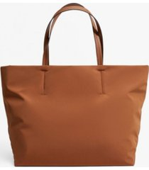 mango women's nylon shopper tote bag