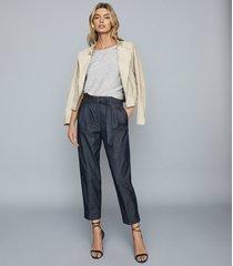 reiss becca - asymmetric knitted tank top in grey, womens, size xl