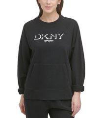 dkny sport women's cotton graphic sweatshirt