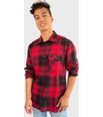 camisa d/struct rojo - calce regular