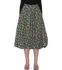 sabine' all-over floral print balloon hem skirt