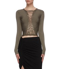 central braid knit top