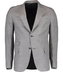 plaid peak lapel platinum jacket
