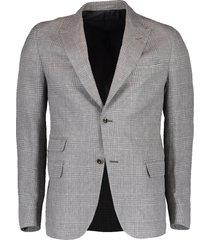 plaid peak lapel platinum jacket