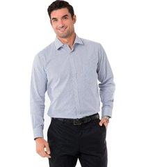 camisa formal a cuadros azul arrow