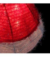 northlight lighted iced tinsel santa hat christmas tree topper