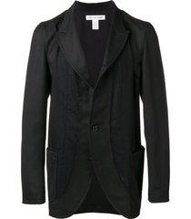 comme des garçons shirt classic single-breasted blazer - black