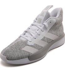 tenis basketball blanco-gris adidas performance pro next 2019
