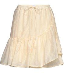clara mesh soya kort kjol beige line of oslo