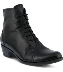 women's spring step jaru lace-up bootie, size 9.5-10us - black