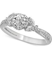 bliss monique lhuiller diamond engagement ring (1 ct. t.w.) in 14k white gold