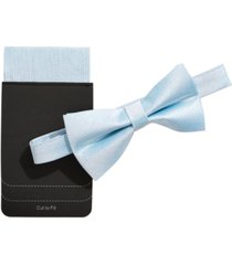 tallia men's shimmer bow tie & pocket square