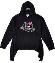 we love our hometown hoodie black