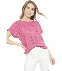 blusa esprit rosa - calce regular