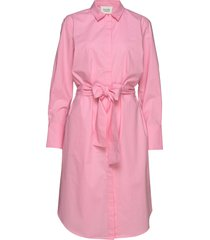 larkin ls midi shirt dress knälång klänning rosa second female