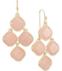 style & co chandelier stone drop earrings, created for macy's