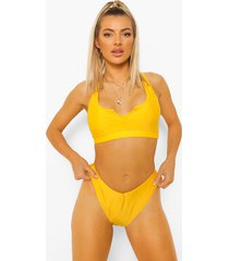 essentials bikini broekje met v-taille, orange