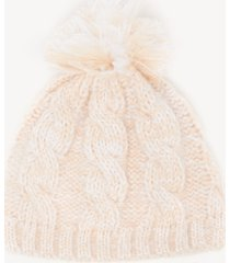 women's cable knit beanie hat ivory one size from sole society