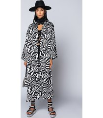 akira davina oversized zebra cardigan