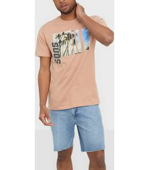 only & sons onsindio reg ss tee t-shirts & linnen ljus rosa